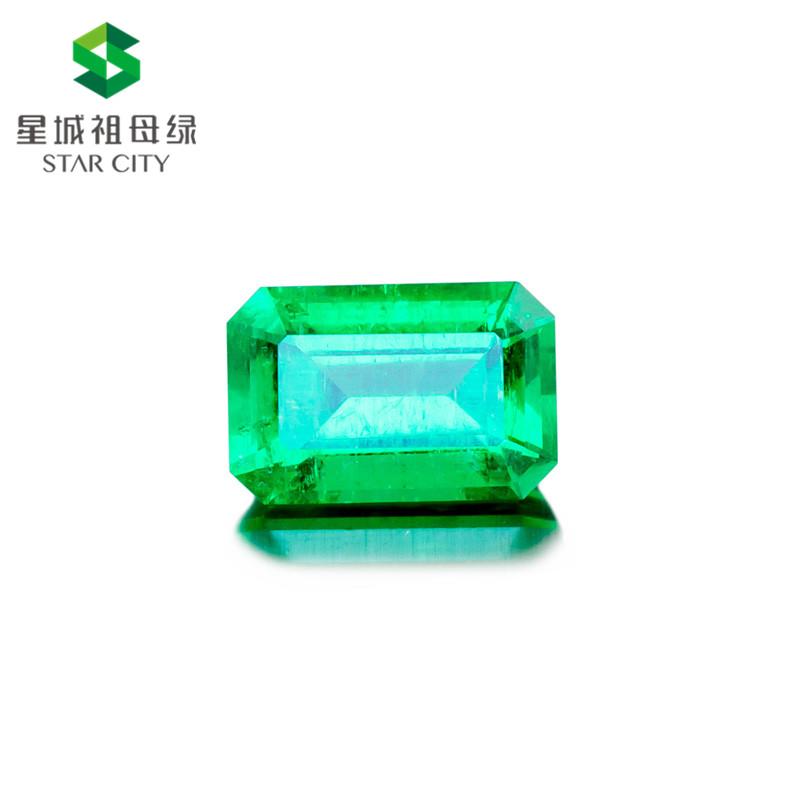 阿富汗 祖母绿裸石3.67克拉 GRS green Insignificant