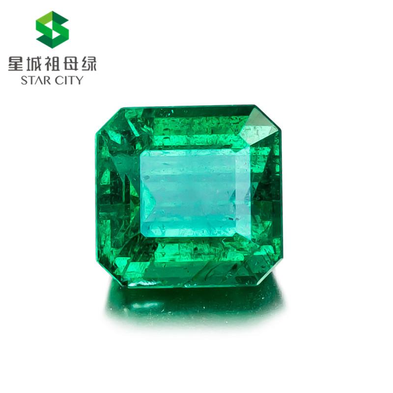 赞比亚 祖母绿裸石4.27克拉 GRS green Insignificant